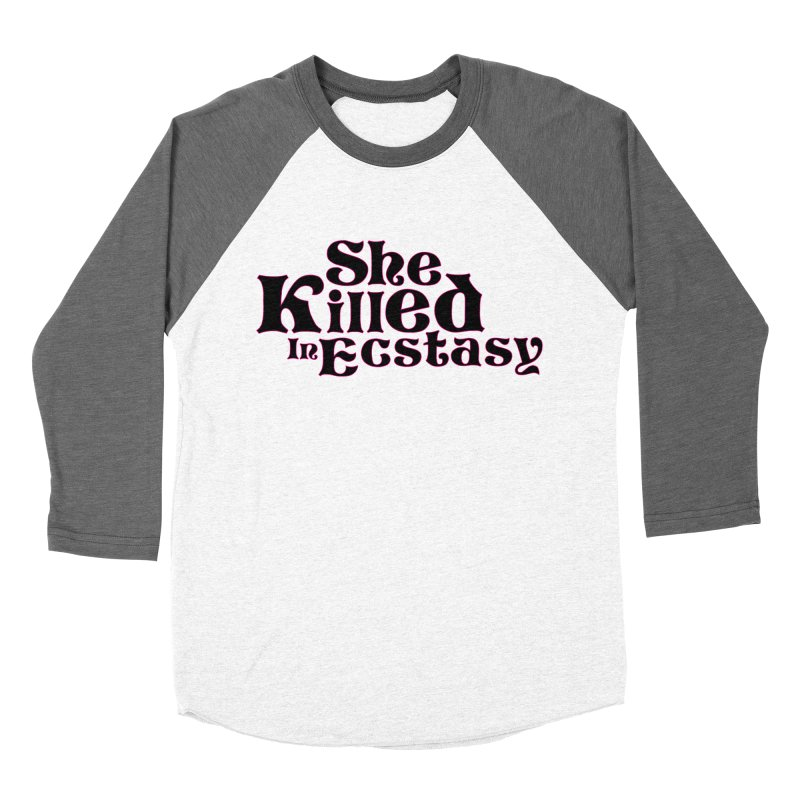 SKIE - Black Logo Men's Baseball Triblend Longsleeve T-Shirt by She Killed In Ecstasy