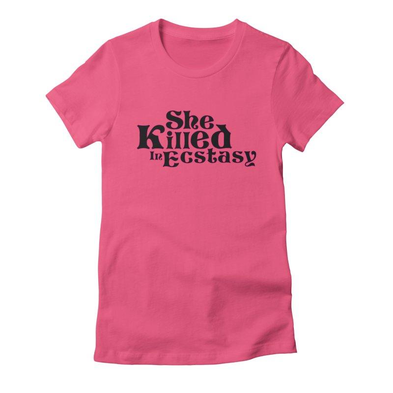 SKIE - Black Logo Women's T-Shirt by She Killed In Ecstasy