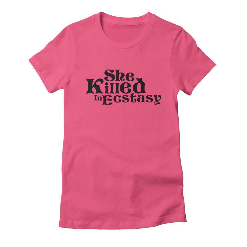 SKIE - Black Logo Women's Fitted T-Shirt by She Killed In Ecstasy