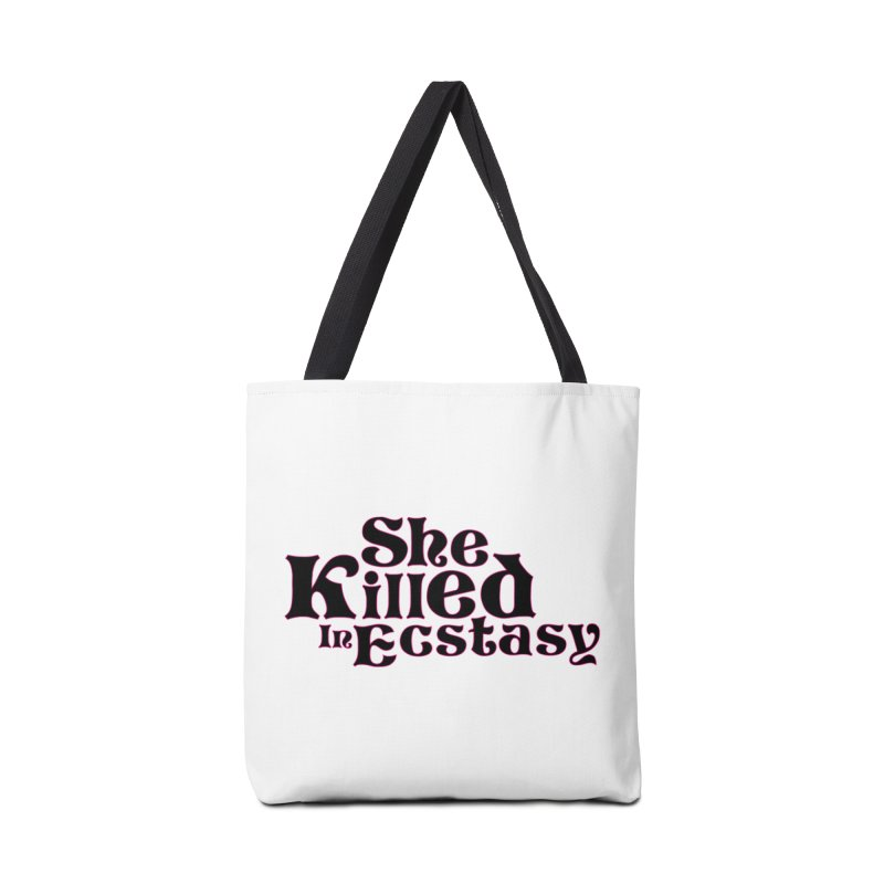 SKIE - Black Logo Accessories Tote Bag Bag by She Killed In Ecstasy