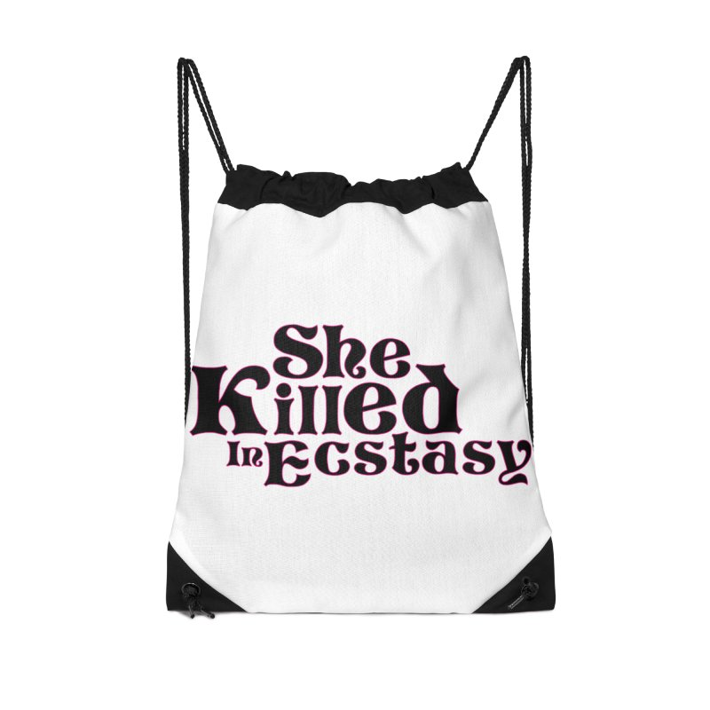 SKIE - Black Logo Accessories Drawstring Bag Bag by She Killed In Ecstasy