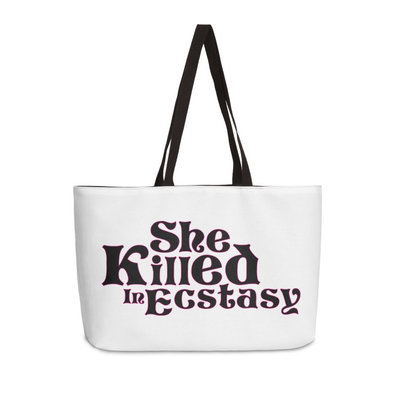 SKIE - Black Logo Accessories Bag by She Killed In Ecstasy