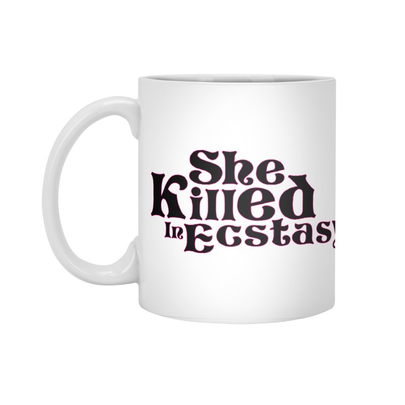 SKIE - Black Logo Accessories Standard Mug by She Killed In Ecstasy