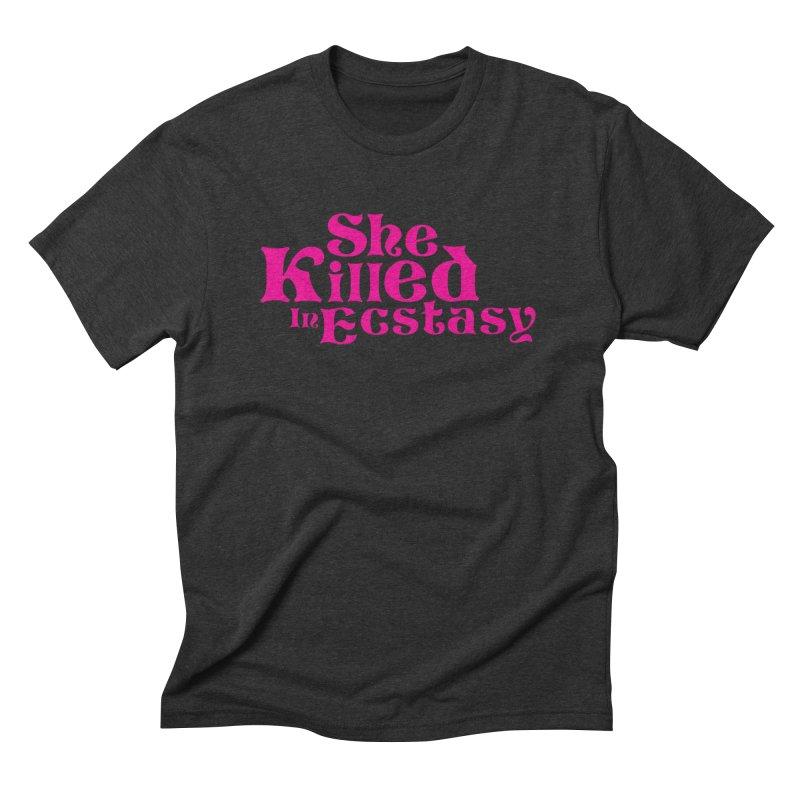 SKIE - Magenta Logo Men's T-Shirt by She Killed In Ecstasy