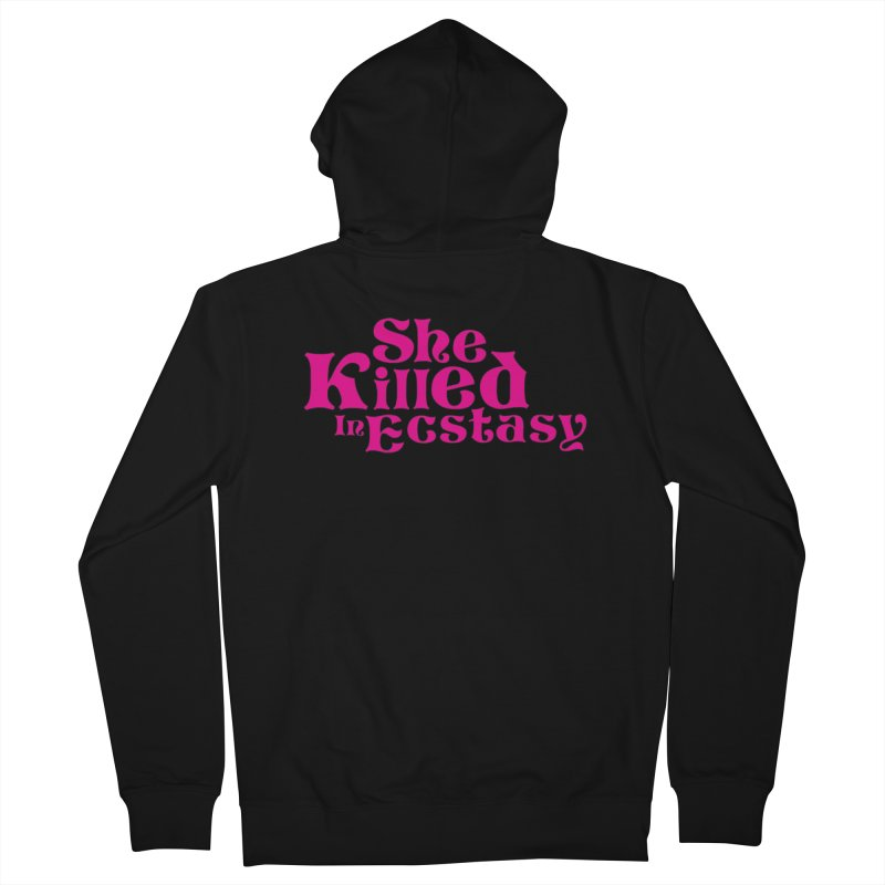 SKIE - Magenta Logo Women's French Terry Zip-Up Hoody by She Killed In Ecstasy
