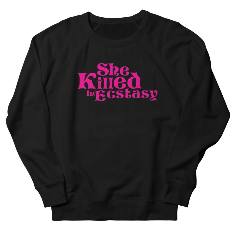 SKIE - Magenta Logo Men's French Terry Sweatshirt by She Killed In Ecstasy
