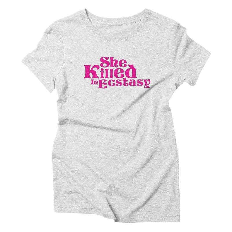 SKIE - Magenta Logo Women's Triblend T-Shirt by She Killed In Ecstasy