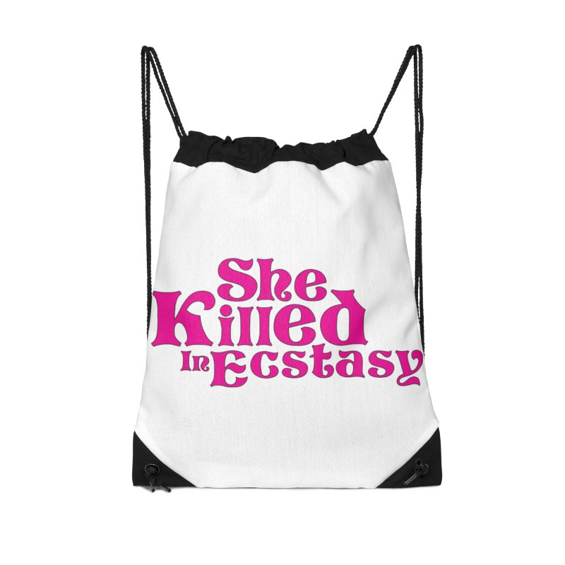 SKIE - Magenta Logo Accessories Drawstring Bag Bag by She Killed In Ecstasy