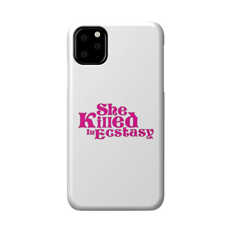 SKIE - Magenta Logo Accessories Phone Case by She Killed In Ecstasy