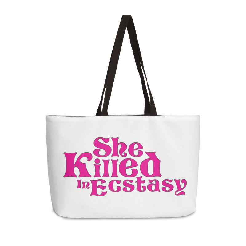 SKIE - Magenta Logo Accessories Weekender Bag Bag by She Killed In Ecstasy