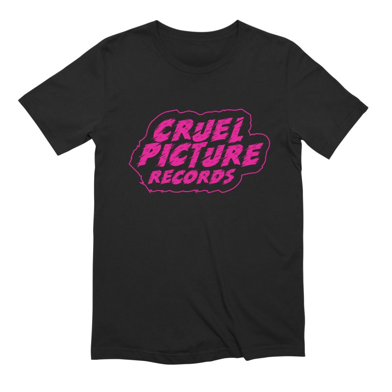 Cruel Picture Records Basic Logo (Magenta) Men's T-Shirt by She Killed In Ecstasy
