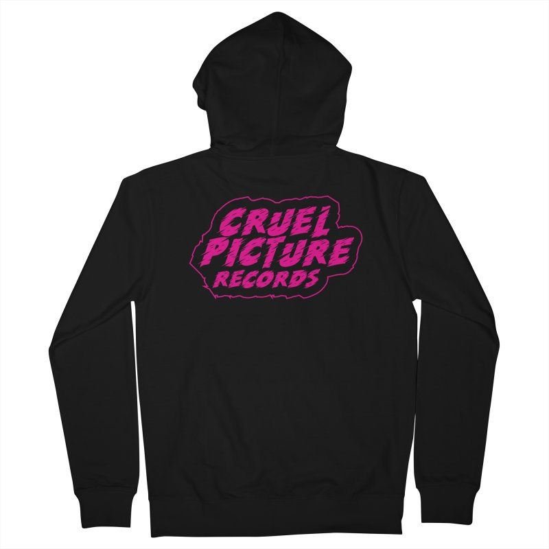 Cruel Picture Records Basic Logo (Magenta) Men's French Terry Zip-Up Hoody by She Killed In Ecstasy