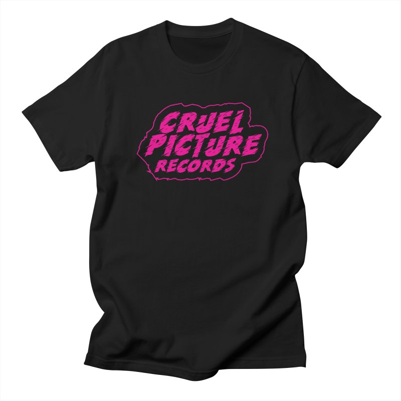 Cruel Picture Records Basic Logo (Magenta) Women's Regular Unisex T-Shirt by She Killed In Ecstasy