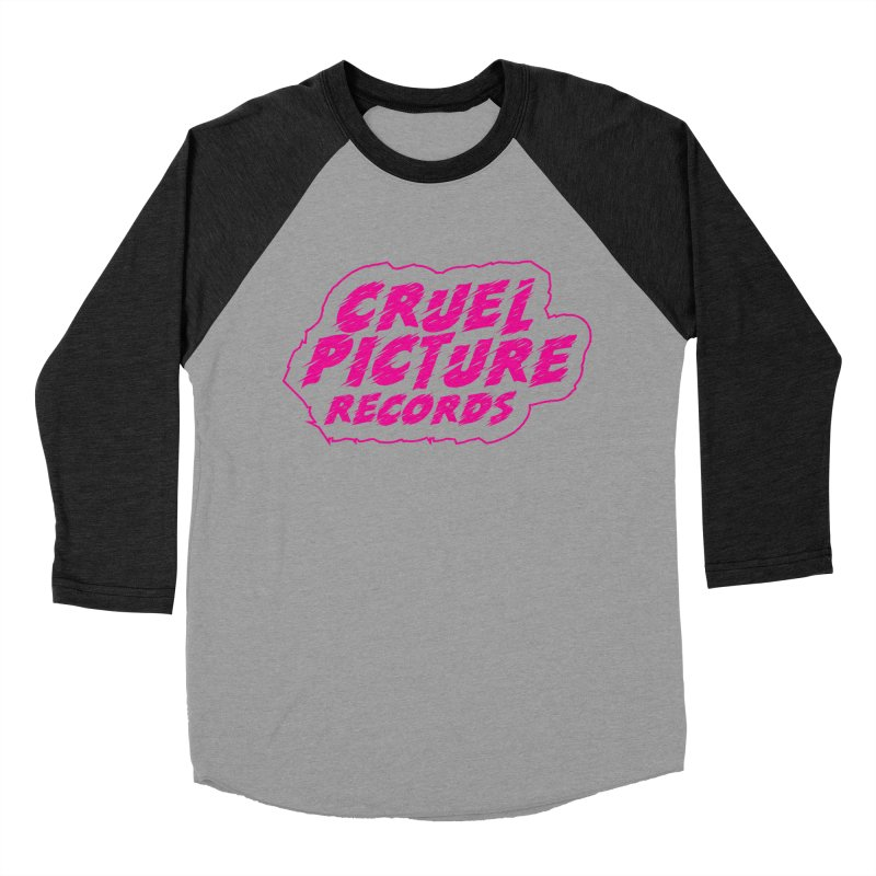 Cruel Picture Records Basic Logo (Magenta) Women's Baseball Triblend Longsleeve T-Shirt by She Killed In Ecstasy