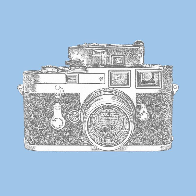 Retro Vintage Camera On Blue Background by shellystill's Artist Shop
