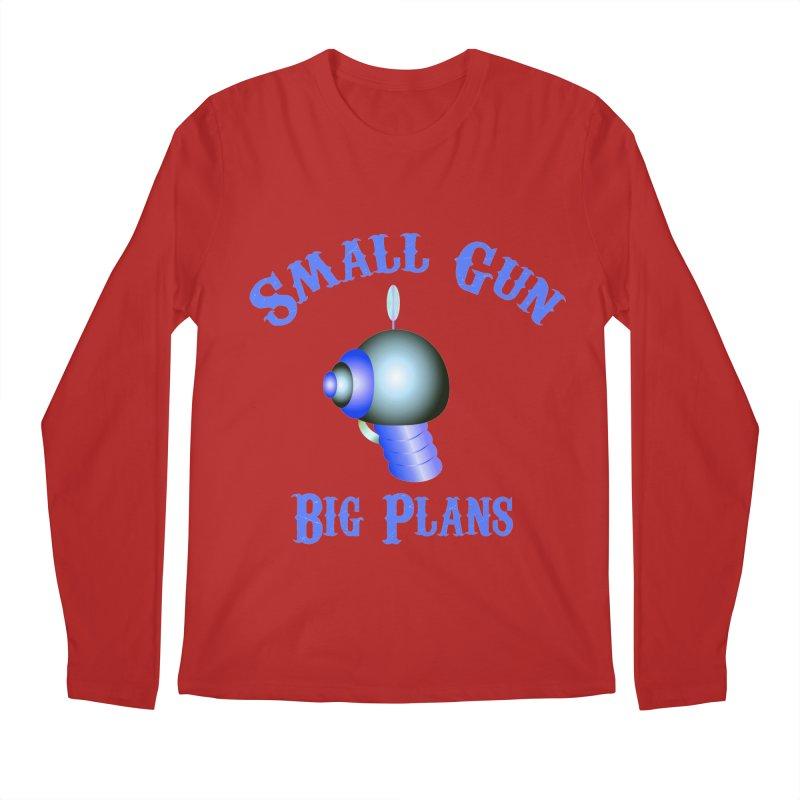 Small Gun, Big Plans Men's Longsleeve T-Shirt by Shelly Still's Artist Shop