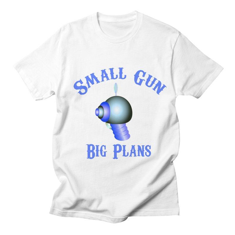 Small Gun, Big Plans Men's T-shirt by Shelly Still's Artist Shop