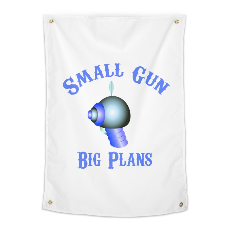 Small Gun, Big Plans Home Tapestry by Shelly Still's Artist Shop