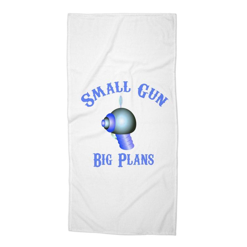 Small Gun, Big Plans Accessories Beach Towel by Shelly Still's Artist Shop