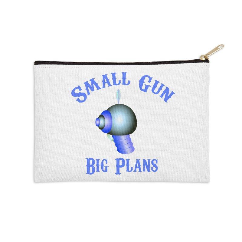 Small Gun, Big Plans Accessories Zip Pouch by Shelly Still's Artist Shop