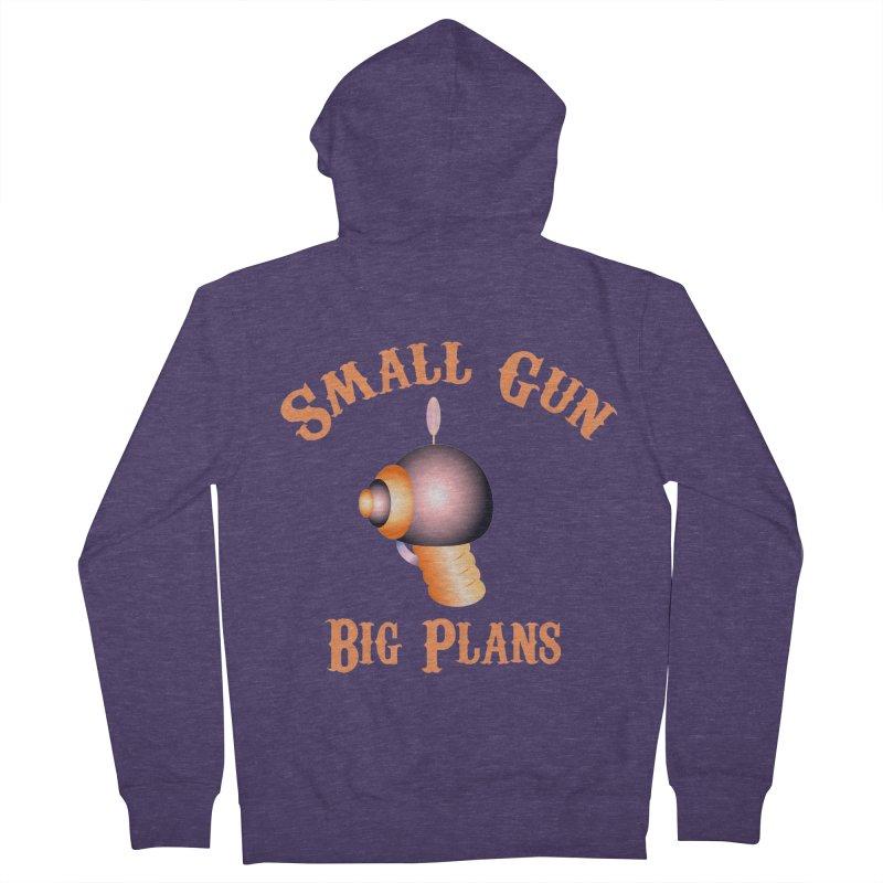 Small Gun Big Plans Men's Zip-Up Hoody by Shelly Still's Artist Shop