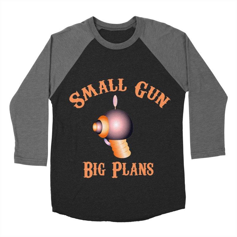 Small Gun Big Plans Women's Baseball Triblend T-Shirt by Shelly Still's Artist Shop