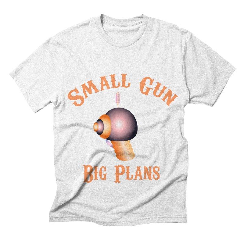 Small Gun Big Plans Men's Triblend T-shirt by Shelly Still's Artist Shop