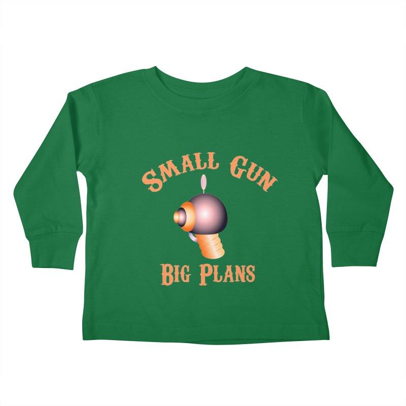 Small Gun Big Plans Kids Toddler Longsleeve T-Shirt by Shelly Still's Artist Shop
