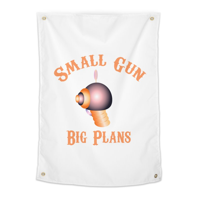 Small Gun Big Plans Home Tapestry by Shelly Still's Artist Shop