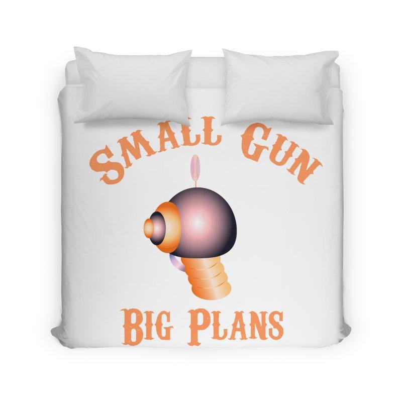 Small Gun Big Plans Home Duvet by Shelly Still's Artist Shop