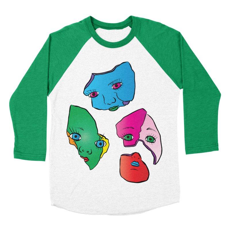 Broken Dolls Women's Baseball Triblend T-Shirt by Shelly Still's Artist Shop