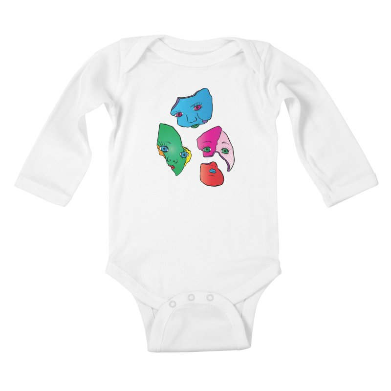Broken Dolls Kids Baby Longsleeve Bodysuit by Shelly Still's Artist Shop