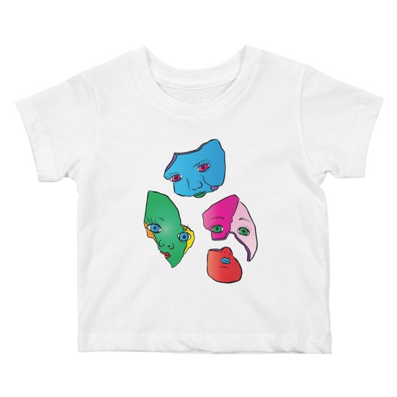 Broken Dolls Kids Baby T-Shirt by Shelly Still's Artist Shop