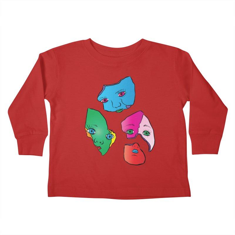 Broken Dolls Kids Toddler Longsleeve T-Shirt by Shelly Still's Artist Shop