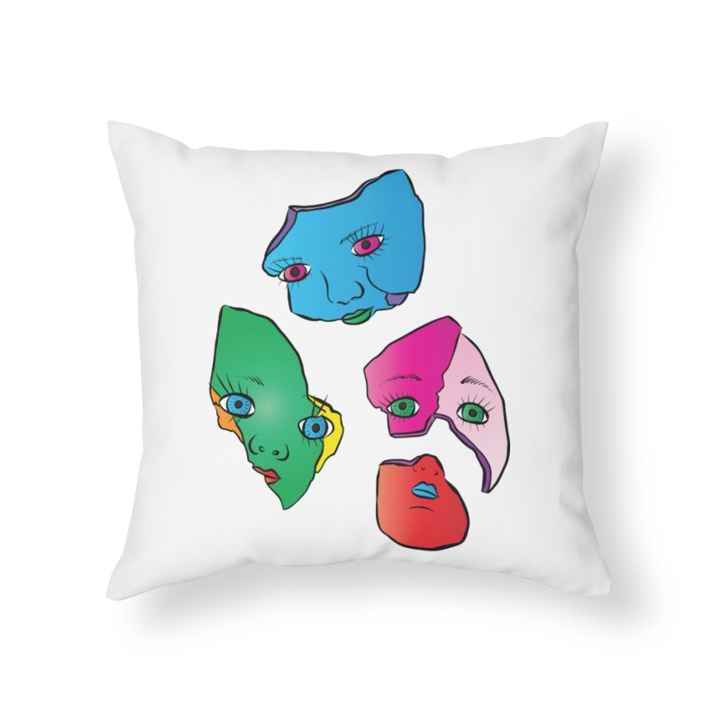Broken Dolls Home Throw Pillow by Shelly Still's Artist Shop