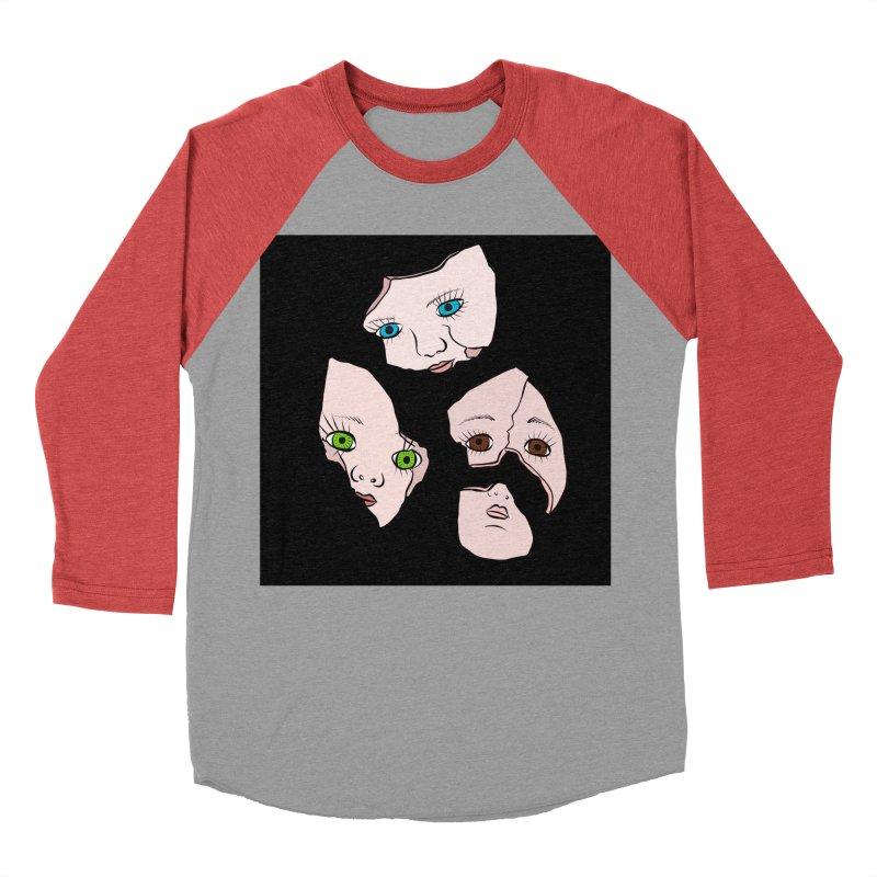 Broken Dolls Men's Baseball Triblend T-Shirt by Shelly Still's Artist Shop