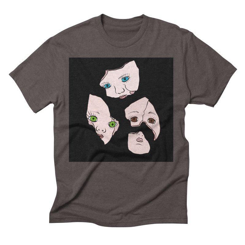 Broken Dolls Men's Triblend T-shirt by Shelly Still's Artist Shop