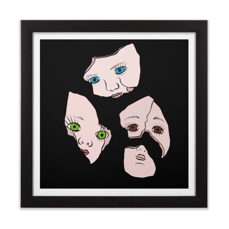 Broken Dolls Home Framed Fine Art Print by Shelly Still's Artist Shop