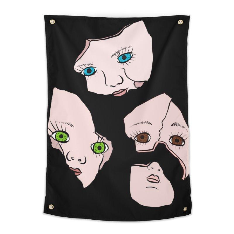 Broken Dolls Home Tapestry by Shelly Still's Artist Shop