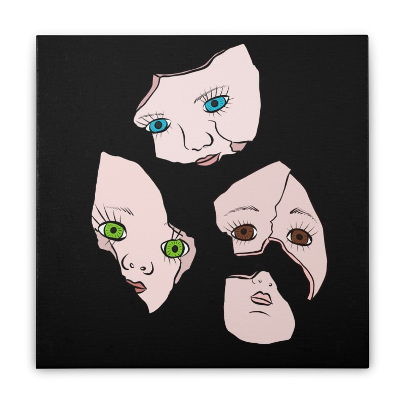 Broken Dolls Home Stretched Canvas by Shelly Still's Artist Shop