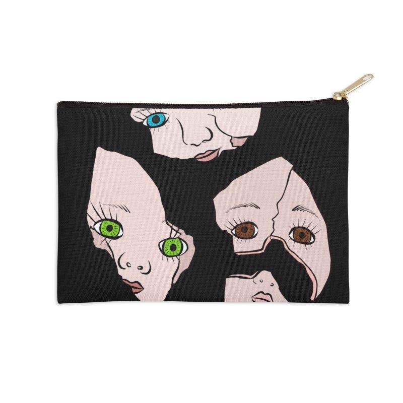 Broken Dolls Accessories Zip Pouch by Shelly Still's Artist Shop