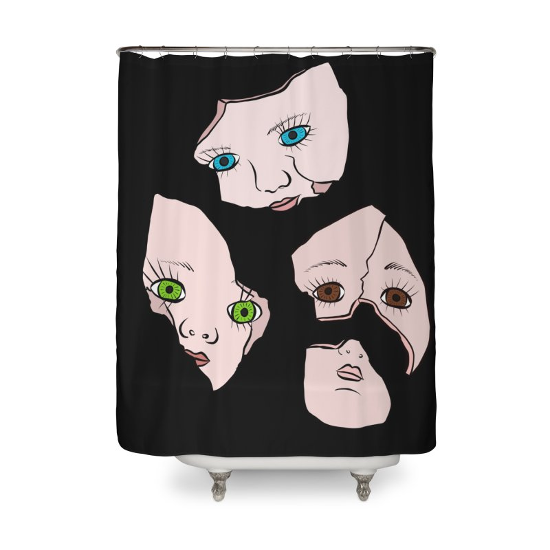 Broken Dolls Home Shower Curtain by Shelly Still's Artist Shop