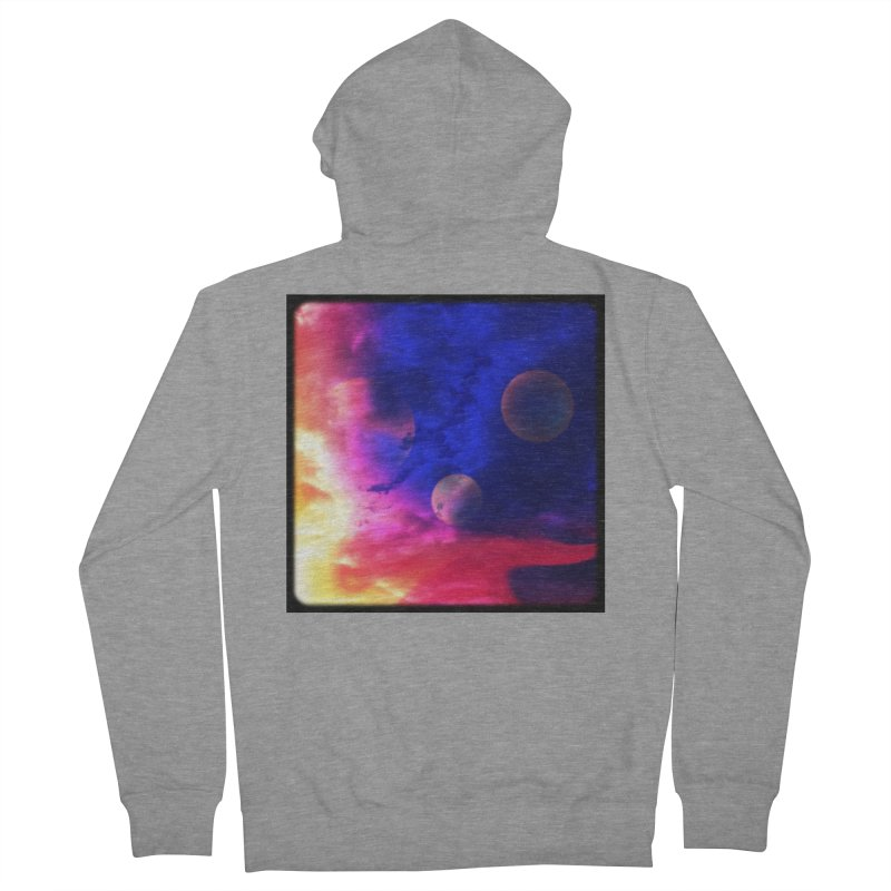 The Planets Men's Zip-Up Hoody by Shelly Still's Artist Shop