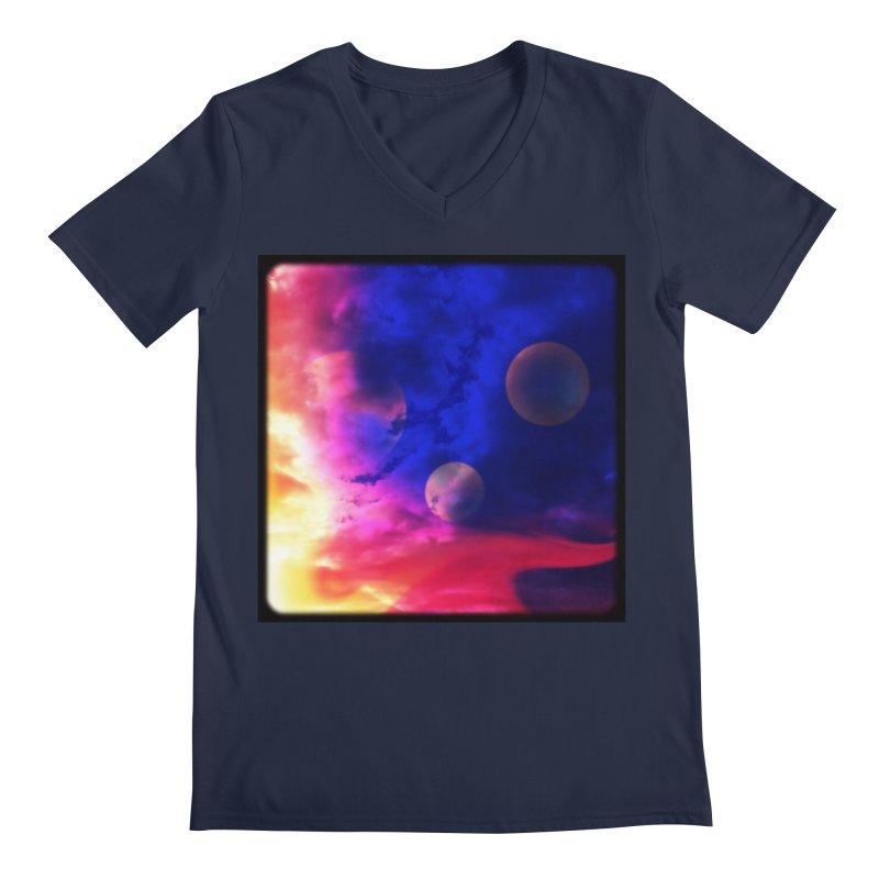 The Planets Men's V-Neck by Shelly Still's Artist Shop