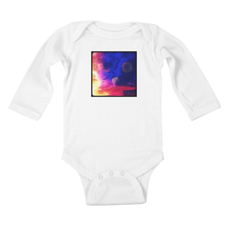 The Planets Kids Baby Longsleeve Bodysuit by Shelly Still's Artist Shop