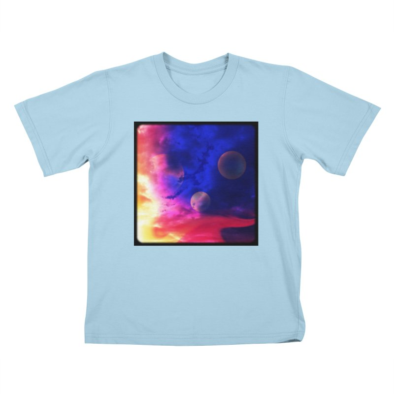 The Planets Kids T-shirt by Shelly Still's Artist Shop