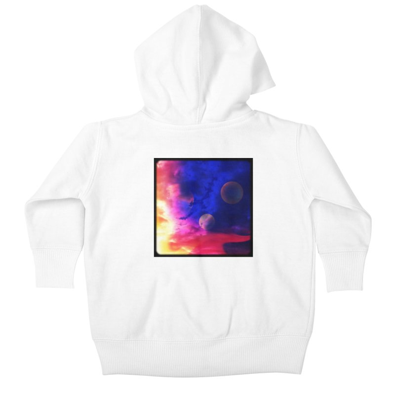 The Planets Kids Baby Zip-Up Hoody by Shelly Still's Artist Shop