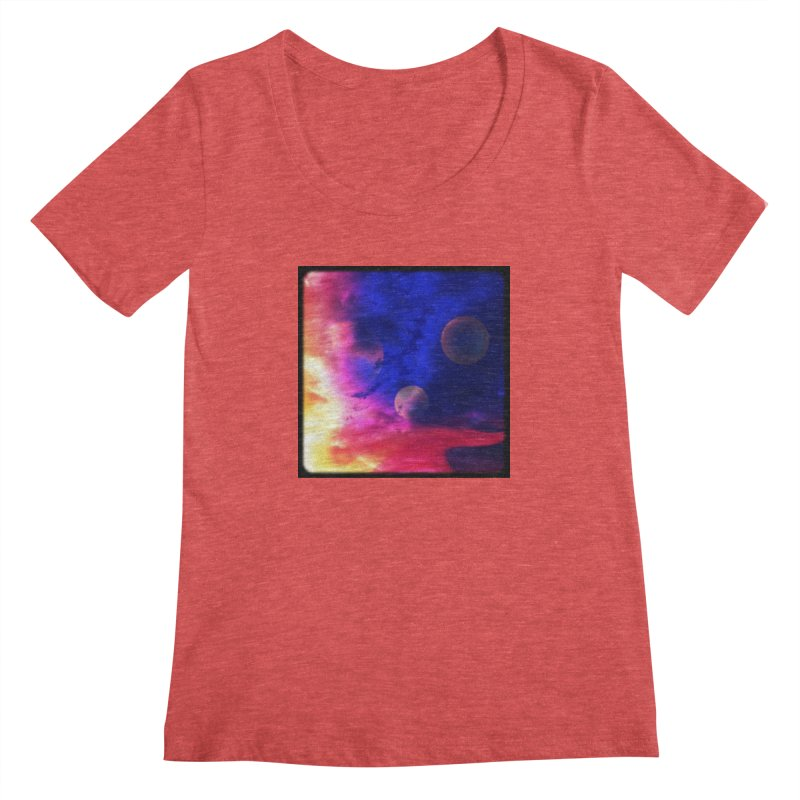 The Planets Women's Scoopneck by Shelly Still's Artist Shop