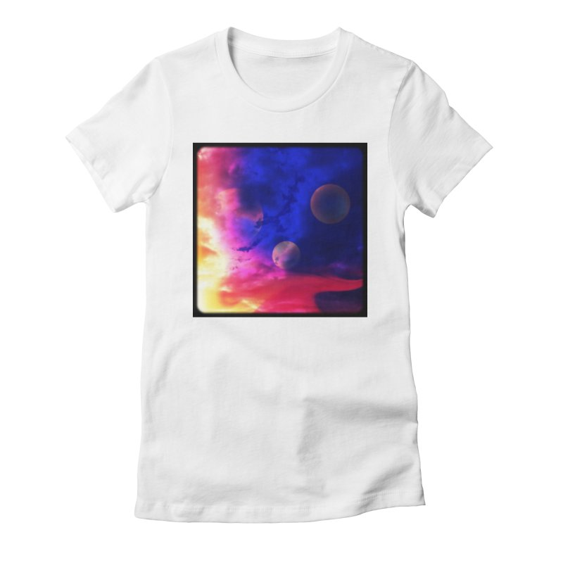 The Planets Women's Fitted T-Shirt by Shelly Still's Artist Shop
