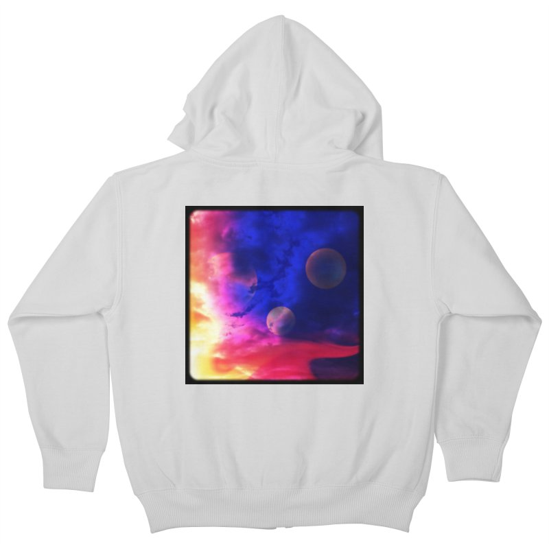 The Planets Kids Zip-Up Hoody by Shelly Still's Artist Shop